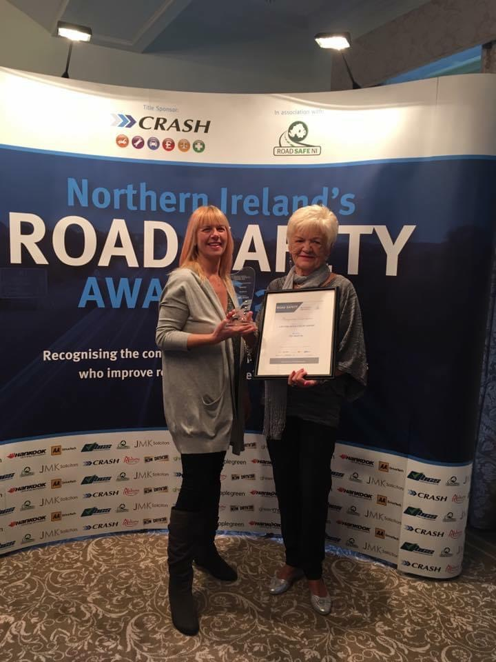 Bailies Auto Refinishers Receiving Road Safety Award