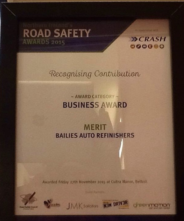 Bailies Auto Refinishers Road Safety Award